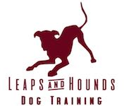 Leaps and Hounds Dog Training Logo